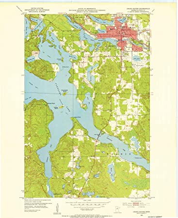 Amazon.com: Minnesota Maps | 1953 Grand Rapids, MN USGS Historical ...