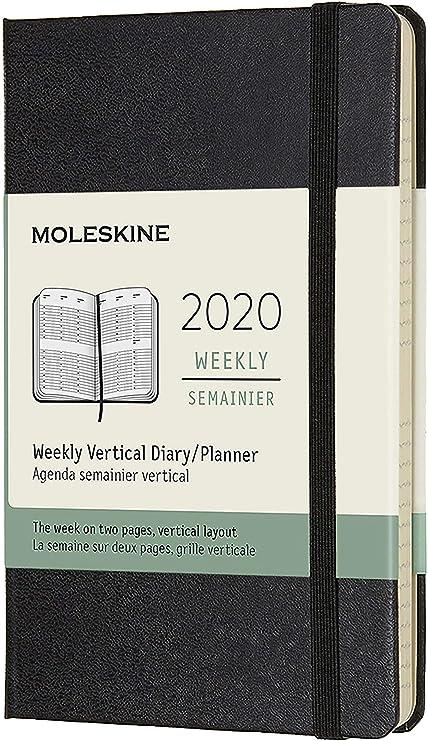 Moleskine - Agenda Semanal Vertical de 12 Meses 2020, Tapa ...