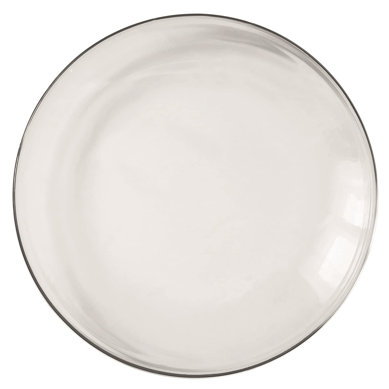 Barski - European Glass - Set of 2 - Clear - Charger - Plate - 13