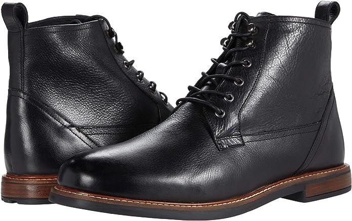 Ben Sherman Birk Cap Toe BNM00023 Mens Brown Leather Plaid Low Top Oxfords Shoes