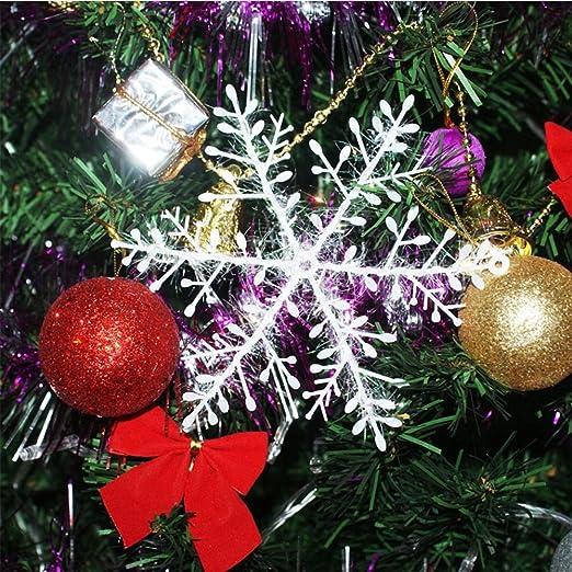 30Pcs Christmas White Snowflakes Xmas Tree Decorations Ornaments 11CM