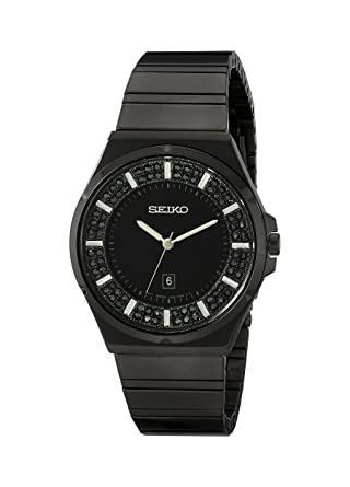 Seiko Womens SXDG37 Analog Display Japanese Quartz Black Watch