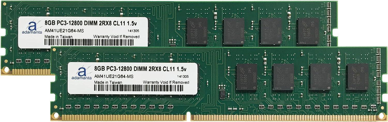 Desktop Memory Upgrade for Acer Veriton M4620G/_H DDR3 1600 PC3-12800 DIMM 2Rx8 CL11 1.5v Notebook RAM 2x8GB Adamanta 16GB