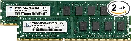 PARTS-QUICK Brand 4GB Memory Upgrade for Gigabyte GA-H77M-D3H Motherboard DDR3 P3-12800 1600MHz Non-ECC Desktop DIMM RAM Upgrade