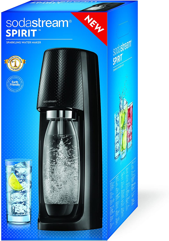 Sodastream Machine /à gaz/éifier leau avec 1 cylindre et 1 bouteille 2270051 Spirit Blanche
