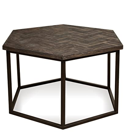 Riverside Chevron Hexagon Coffee Table In Autumn Dusk