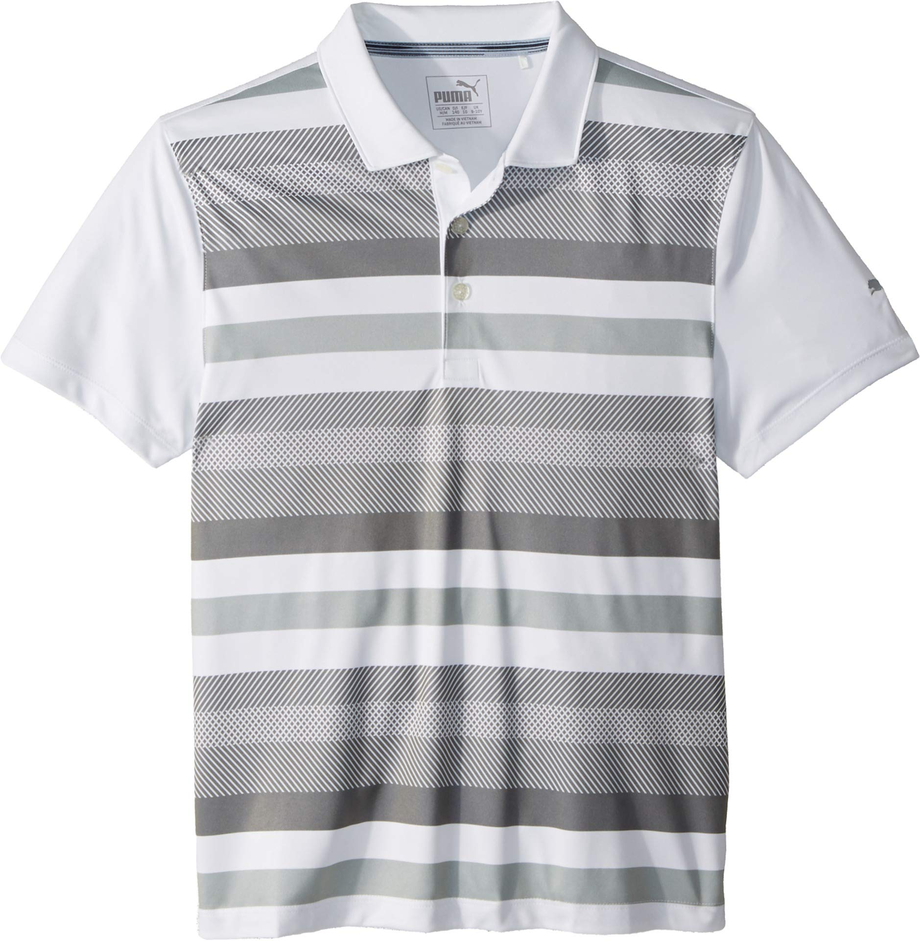 Puma Golf Boy's 2018 Turf Stripe Polo, X-Small, Quiet Shade