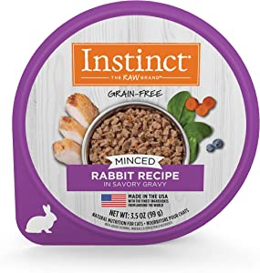 Instinct Grain Free Minced Recipe Natural Wet Cat Food Cups