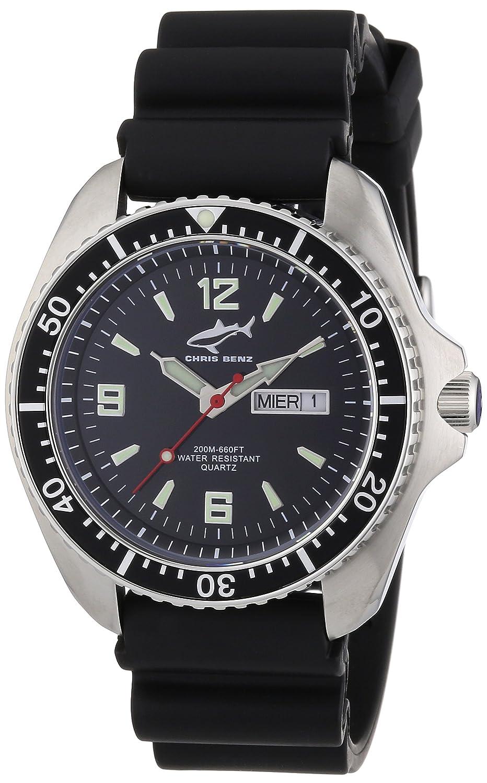 Chris Benz Herren-Armbanduhr XL Analog Kautschuk CBO.S.KB.SW