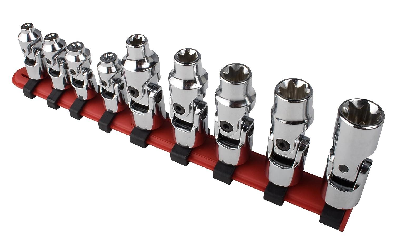 Sunex 9912 1/4' Drive Universal External Star Socket Set, 1/4', 3/8', 9-Piece 1/4 3/8
