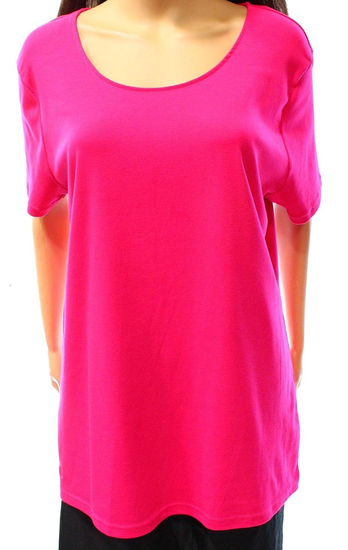 8d7c2543 Top3: Lauren Ralph Lauren Womens Plus Ribbed Knit Short Sleeves T-Shirt