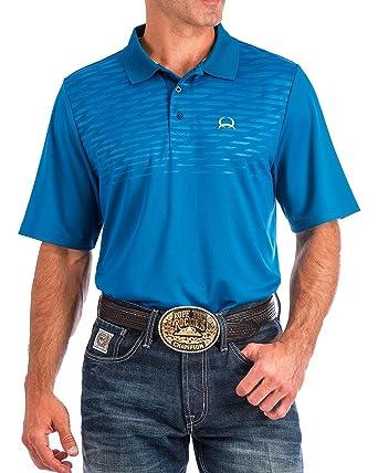 0d61fc46919 Cinch Men s Arenaflex Blue Tech Polo Blue Small