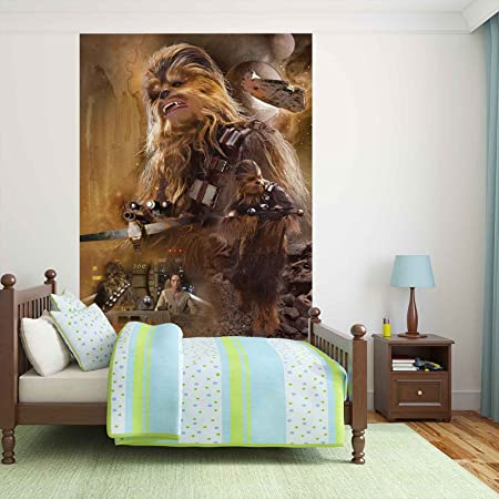 Star Wars Force Awakens Chewbacca Photo Wallpaper Wall Mural Easyinstall Paper Giant Wall Poster Xxl 206cm X 275cm Easyinstall Paper 2 Pieces Amazon Co Uk Kitchen Home