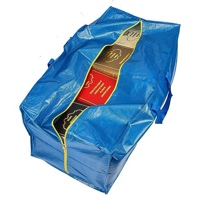 LUTER Bolsa Almacenaje Ropa Grande Plastico Almacenaje Juguetes Bolsa Viaje Bolsa de Almacenamiento para IKEA Frakta Edredon Almohadas(3 Piezas): Amazon.es: ...