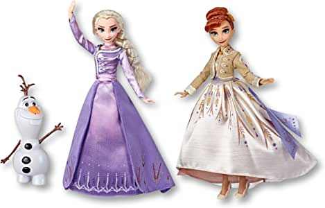 Frozen Disney Elsa, Anna, & Olaf Deluxe Fashion Doll Set with Premium Dresses, Shoes and Accessories Inspired by Disney's 2