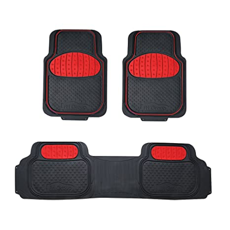 AUDI A5 07-ON UNIVERSAL CAR CARPET FLOOR MATS RED TRIM SET OF 4