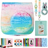 CAIUL Compatible Mini 9 Camera Case Bundle with Album, Filters & Other Accessories for Fujifilm Instax Mini 9 8 8+ (Rainbow Mist, 7 Items)