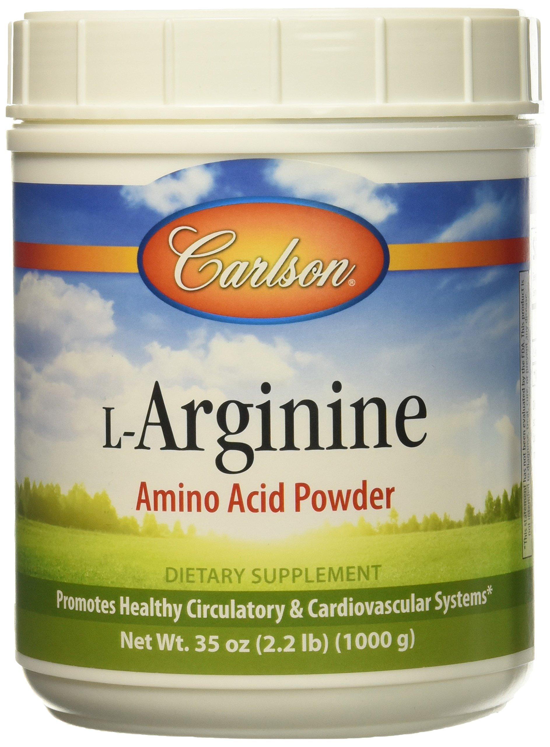 Carlson Labs L-arginine Powder, 1000 Gram