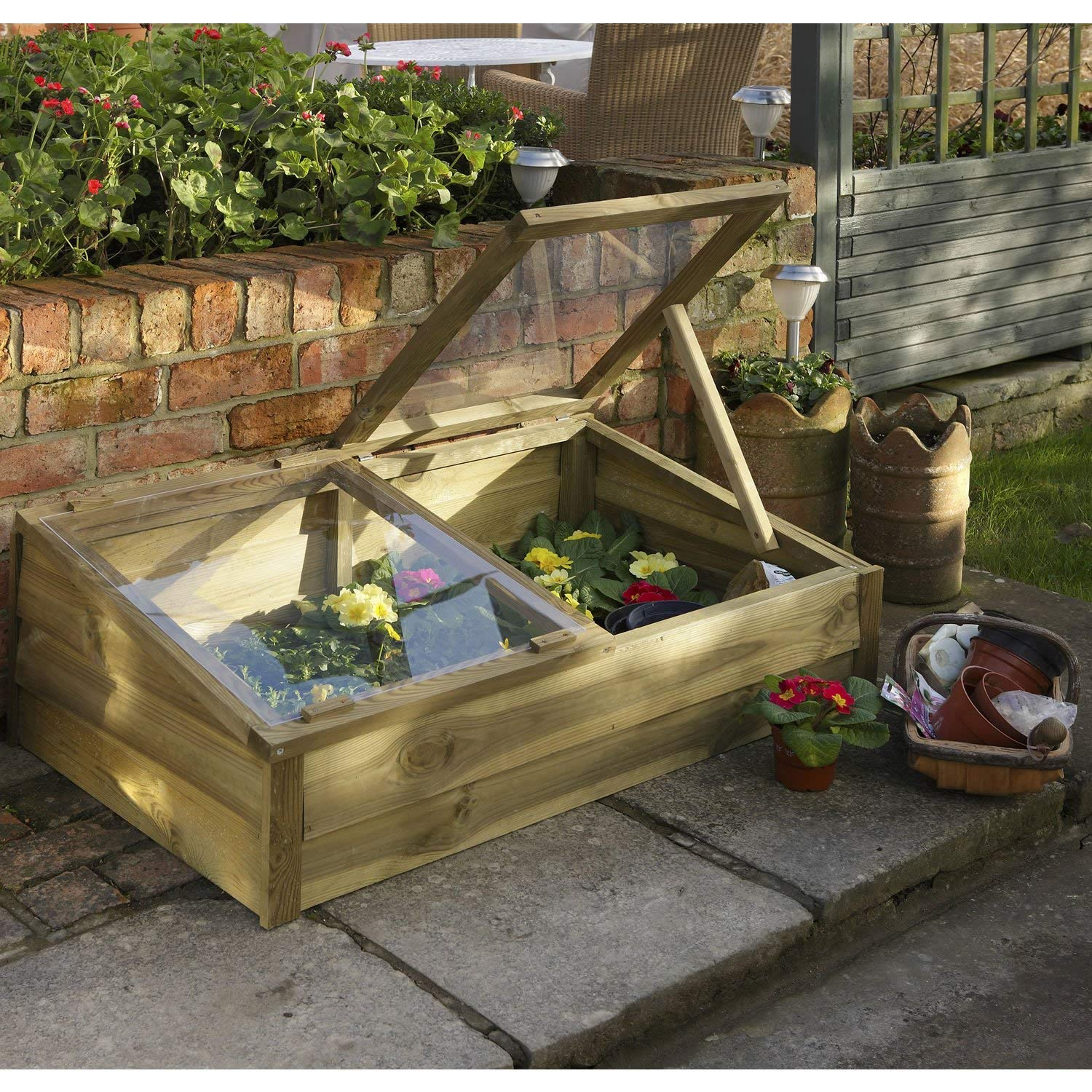 Forest Large Overlap Cold Frame: Amazon.co.uk: Garden & Outdoors