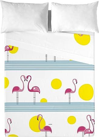 David Delfin Pink Family Juego de sábanas, Algodón, Multicolor, 180 x 200 cm: Amazon.es: Hogar