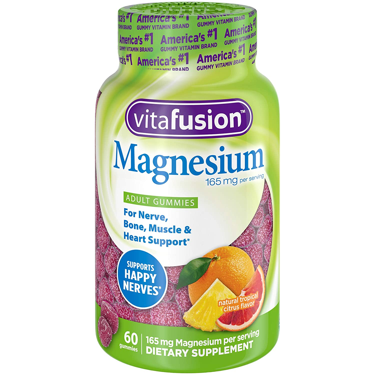 Vitafusion Vitafusion Magnesium Gummy Supplement, 60ct, Citrus, 60 Count