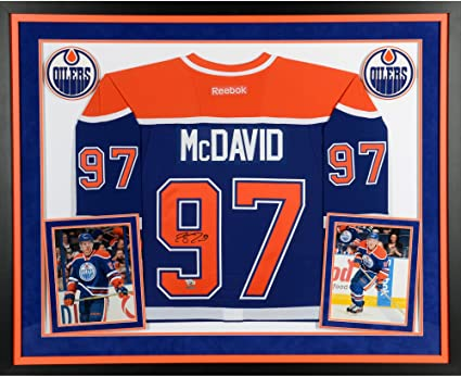 free shipping 72f9a 7009a Connor McDavid Edmonton Oilers Deluxe Framed Autographed ...
