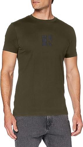 TALLA XL. Calvin Klein Small Center CK Box tee Camisa para Hombre