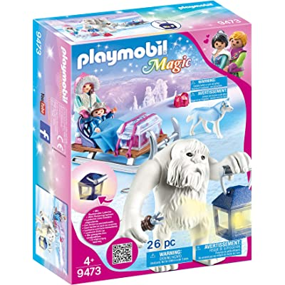 PLAYMOBIL Yeti with Sleigh: Toys & Games