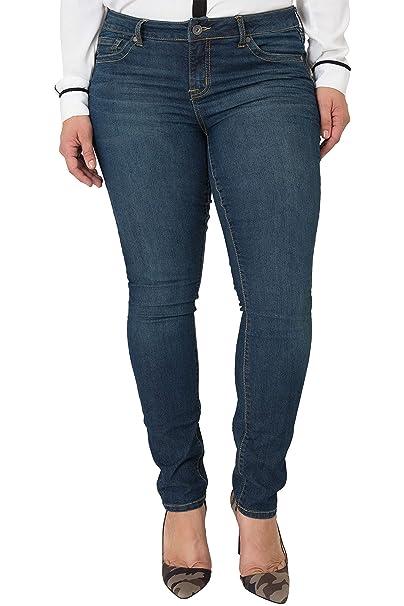 7257928d240 Miss Halladay Plus Size Women s Midrise Skinny Jeans Dark Sandblast Wash  Size 10 to 30 Size