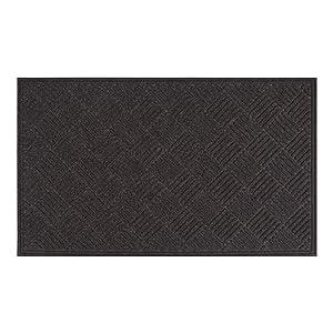 AmazonBasics Molded Carpet Recycled Rubber Commercial Scraper Entrance Mat Diamond Pattern 3X5 Onyx