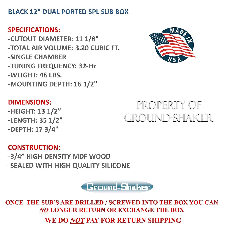12 Dual Ported Spl Subwoofer Enclosure Electronics Subwoofer Boxes ...