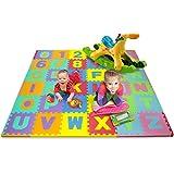 Matney Kid's Foam Floor Alphabet and Number Puzzle Mat, Multicolor (36 Piece)