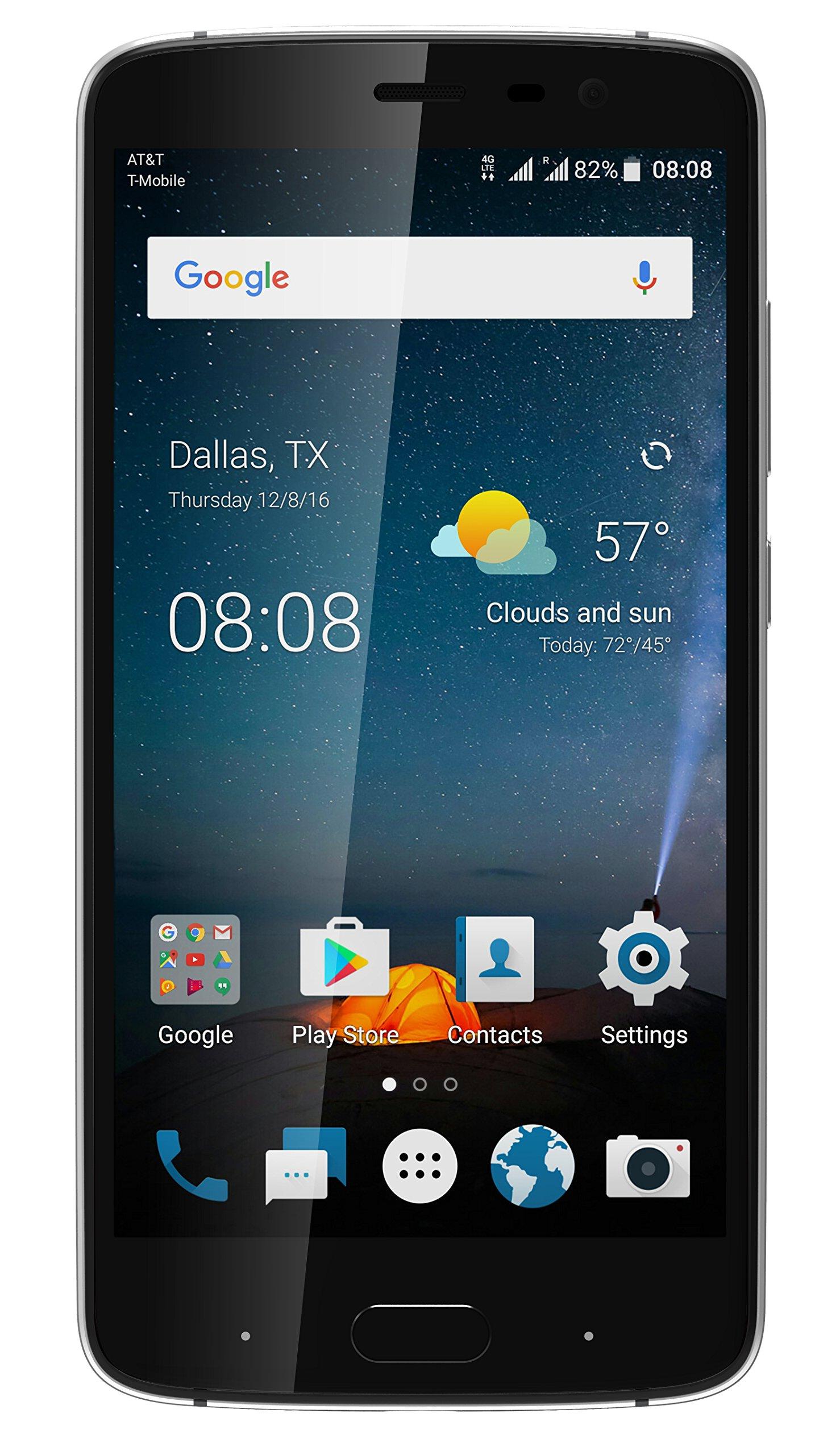 ZTE 5.5'' Blade V8 Pro Factory Unlocked Phone - Black Diamond