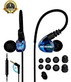 Running Sports Earbud Headphones Wired Over Ear In Ear Headsets Noise Isolation waterproof Earbuds Enhanced Bass Stereo Earphones with Microphone and Remote for Running Jogging Gym (BLIE)