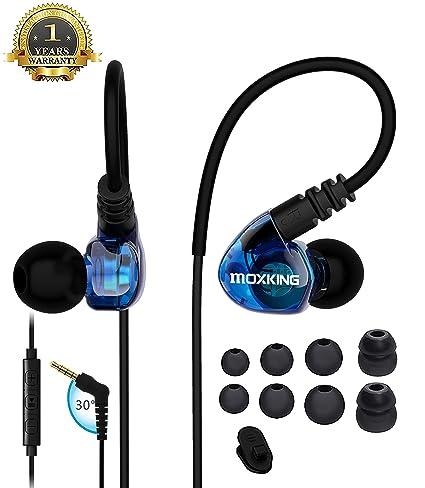 Auriculares Deportivos Para Correr, Auriculares Con Cable En La ...