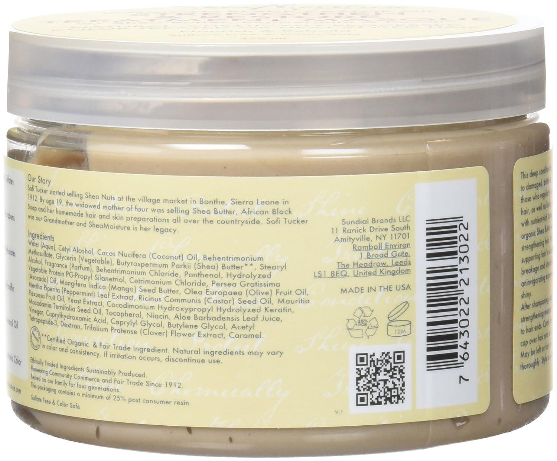 Shea Humedad jamaicana Negro Aceite de ricino Fortalecer/Grow y restauración Tratamiento máscara 326 ml: Amazon.es: Belleza