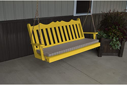 A L Furniture Royal English Yellow Pine 4ft. Porch Swing – Lead TIME to Ship 5 Weeks