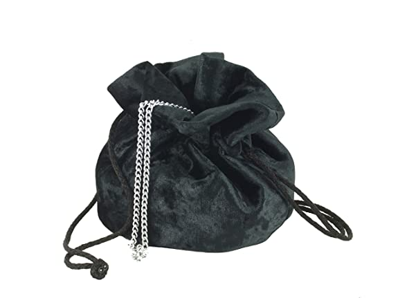 Vintage & Retro Handbags, Purses, Wallets, Bags LONI British Hand Made Fantasy Suede Velvet Drawstring Clutch Shoulder Cross-body Bag $26.99 AT vintagedancer.com