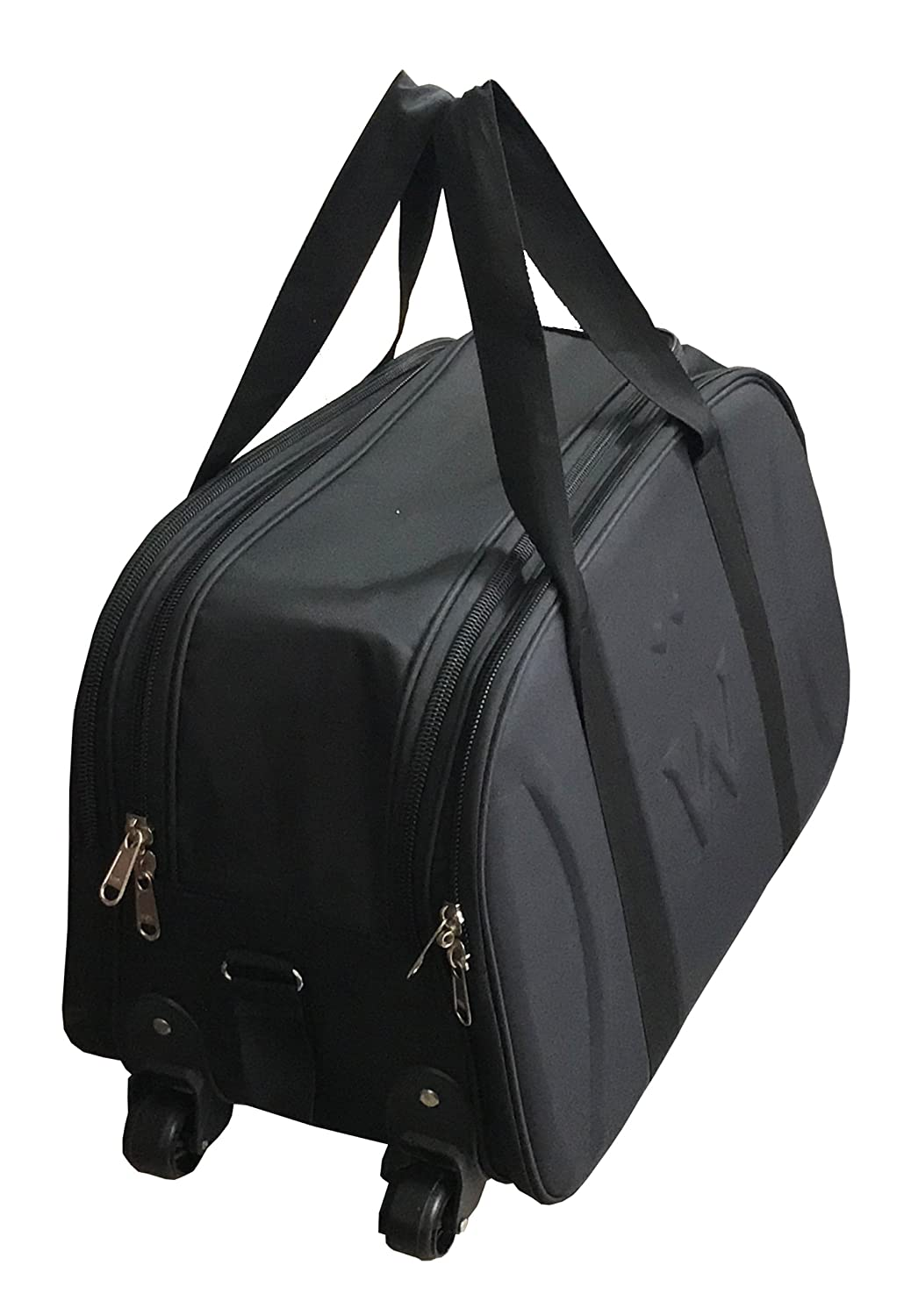 SEPAL Polyester Black Trolley Bag with Wheels