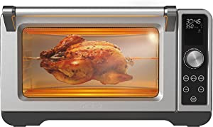 Galanz 6-Slice Toaster Oven with Digital Touch Control Panel, Quartz Heating Element, TotalFry 360 Air Fry Technology, 12 Presets, and Favorite Short-Cut Buttons, 1.1 Cu Ft, 32L, Stainless Steel