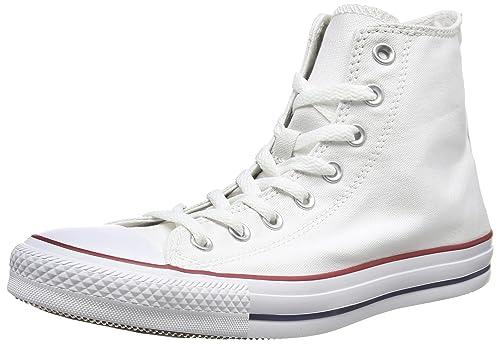 Converse Mens Chuck Taylor All Star High Top, 8 Men 10 Women, Optical White