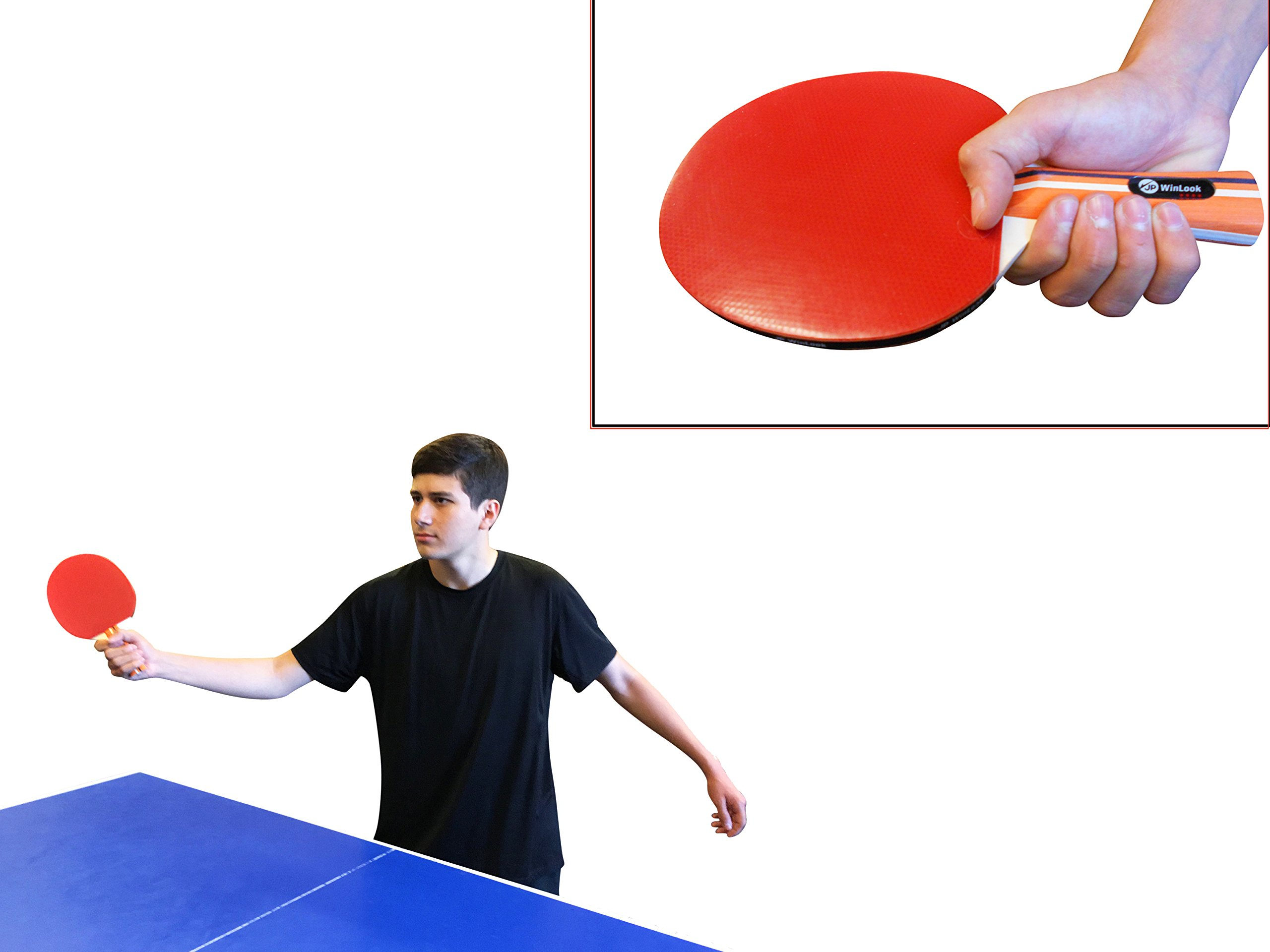 Jp Winlook Ping Pong Paddle 4 Pack Pro Premium Table