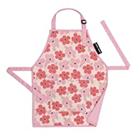 Urban Infant Little Helper Apron for Children | Kids, Cooking Baking Crafting Art Gardening, Boys and Girls, Machine Washable - Small - Poppies