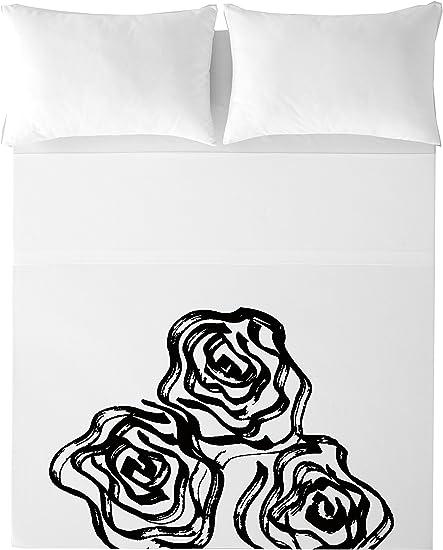 Devota & Lomba Rosas Juego de sábanas, Algodón, Multicolor, 180 x 200 cm: Amazon.es: Hogar