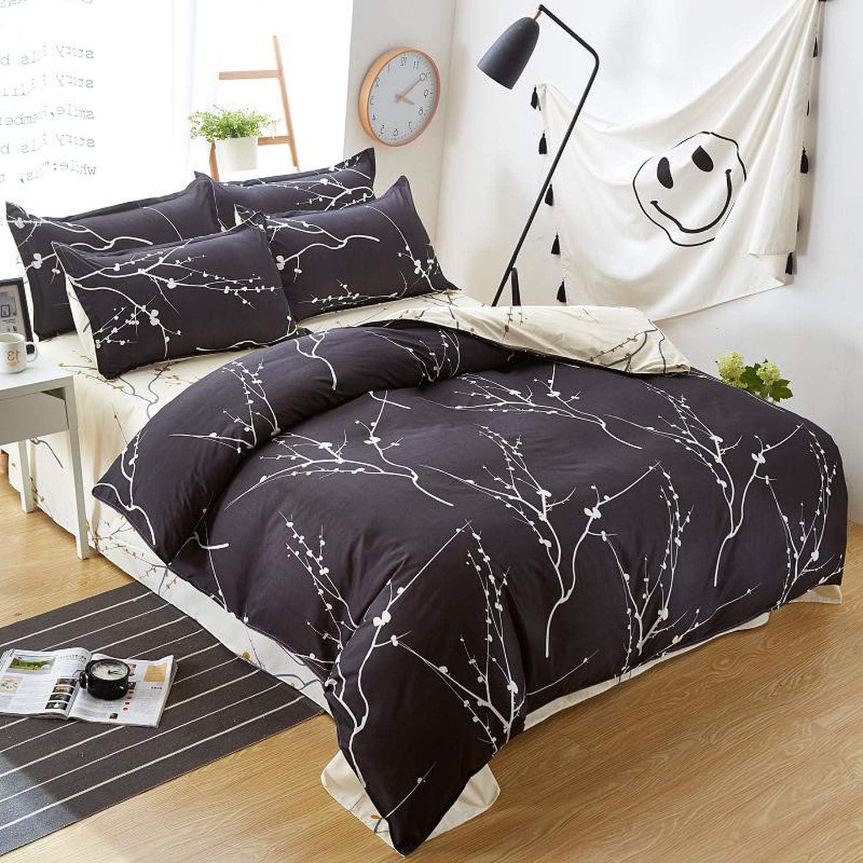 Classic bedding set 5 size grey blue flower bed linen 4pcs//set duvet cover set Pastoral bed sheet AB side duvet cover 2019 bed,GRE wants blue rosemary,Twin