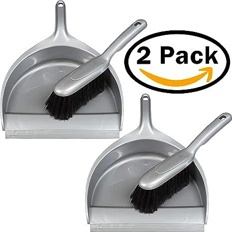Recogedor y Cepillo de mano (Gris, 2): Amazon.es: Hogar