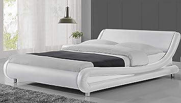 Amazon Com Amolife Full Size Bed Frame Faux Leather Modern