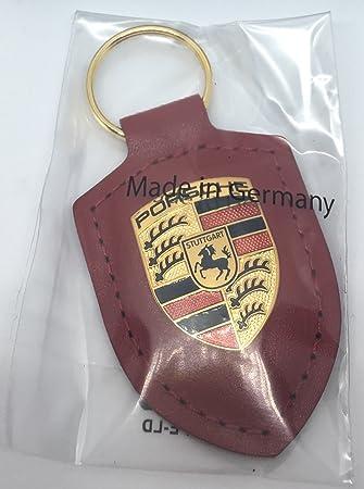 Porsche - Llavero, diseño del escudo de la marca, color rojo ...