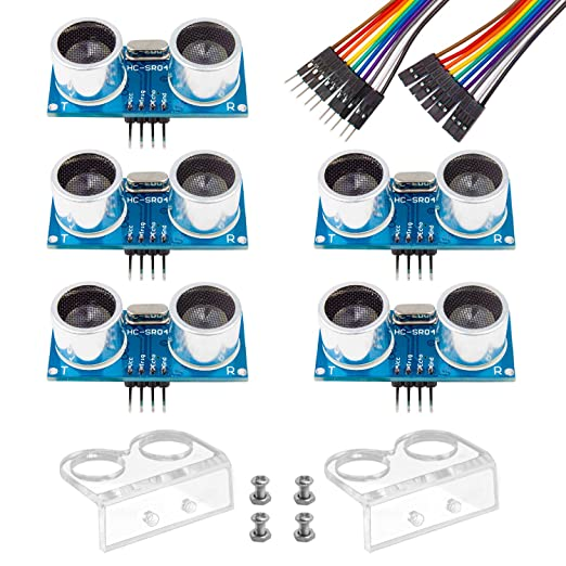 3 opinioni per Smraza 5pcs Ultrasonic Module HC-SR04 Distance Sensor with 2pcs Cartoon Mounting