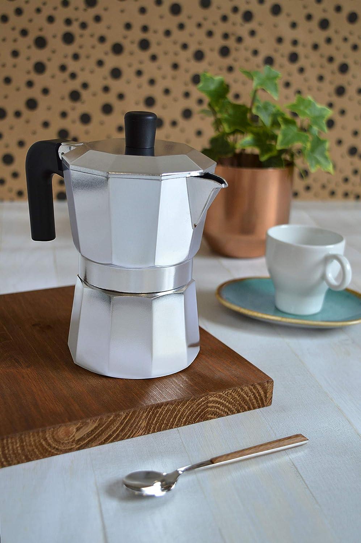 Pintinox Caffettiera Moka 1 Tazza Modello Capri in Alluminio Manico Antiscottatura e Forme che Consentono una Perfetta Estrazione del Caff/è Notevole Risparmio Energetico